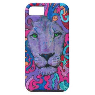 Capa Para iPhone 5 Leão psicadélico roxo