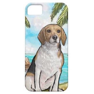 Capa Para iPhone 5 Lebreiro na praia tropical das férias