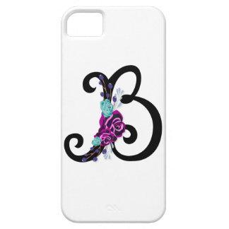 Capa Para iPhone 5 Letra B com design floral do vintage e atrativo