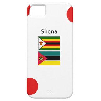Capa Para iPhone 5 Língua de Shona e bandeiras de Zimbabwe e de