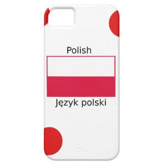 Capa Para iPhone 5 Língua e design poloneses da bandeira do Polônia