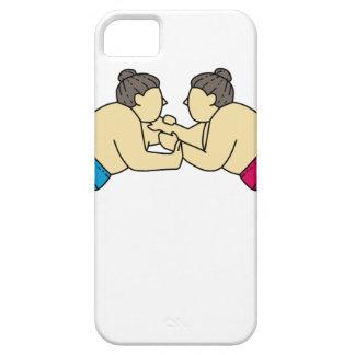 Capa Para iPhone 5 Linha do lado da luta dos lutadores do Sumo de