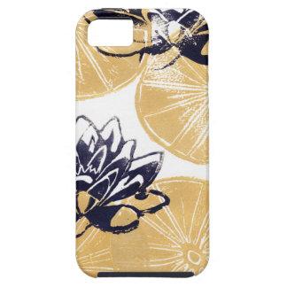 Capa Para iPhone 5 Lírios de água dourados