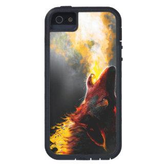 Capa Para iPhone 5 Lobo do fogo