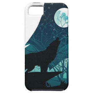Capa Para iPhone 5 Lobo que urra com floresta