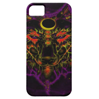Capa Para iPhone 5 Lobo roxo de néon Mythical