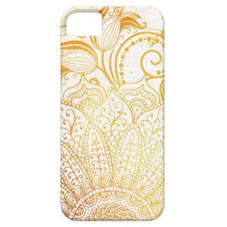 Capa Para iPhone 5 Mandala - escova dourada