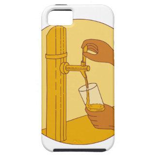 Capa Para iPhone 5 Mão que guardara o desenho de derramamento do