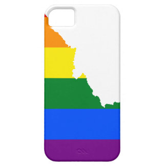 Capa Para iPhone 5 Mapa da bandeira de Idaho LGBT