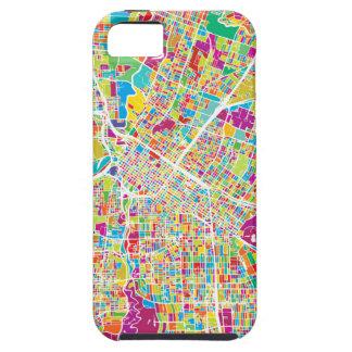 Capa Para iPhone 5 Mapa de néon de Houston, Texas |