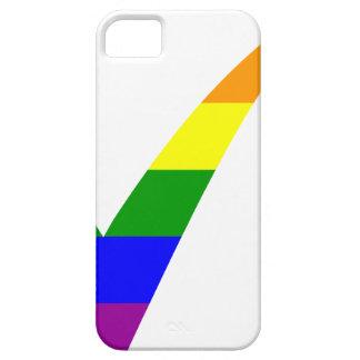 Capa Para iPhone 5 Marca de verificação do arco-íris da Multi-Cor