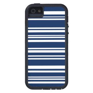 Capa Para iPhone 5 Marinho misturado moderno e listras brancas