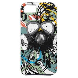 Capa Para iPhone 5 Máscara de gás floral do Grunge