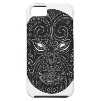 Capa Para iPhone 5 Máscara maori Scratchboard