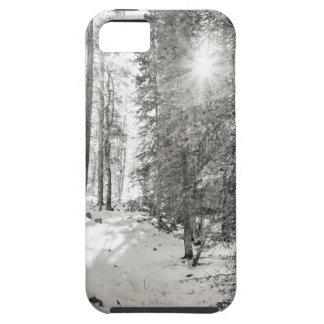 Capa Para iPhone 5 Máscaras da floresta da luz do sol do inverno das