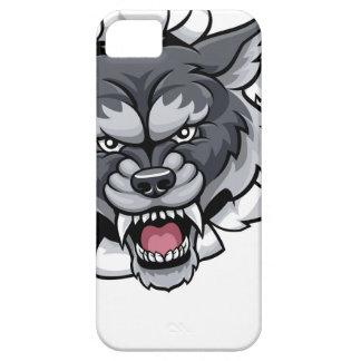 Capa Para iPhone 5 Mascote do grilo do lobo que quebra o fundo