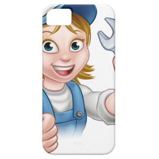 Capa Para iPhone 5 Mecânico ou canalizador fêmea com chave inglesa