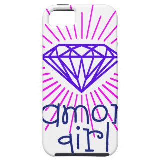 Capa Para iPhone 5 menina do diamante, gema que brilha
