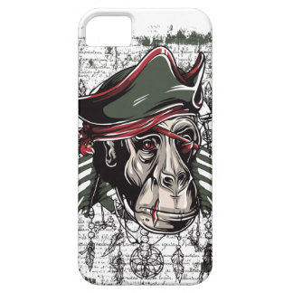 Capa Para iPhone 5 monkey o design bonito do pirata