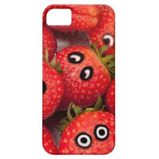 Capa Para iPhone 5 Morangos engraçadas