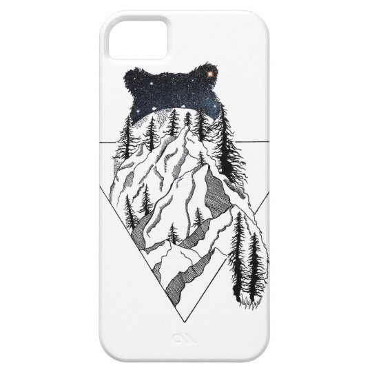 Capa Para iPhone 5 Mountain Bear Case