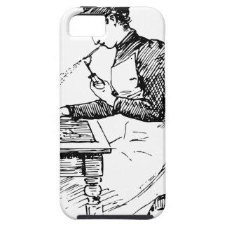 Capa Para iPhone 5 Mulher que usa o Airbrush velho