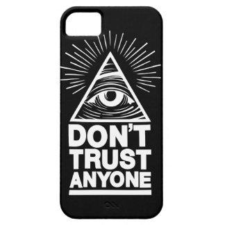 Capa Para iPhone 5 Não confie qualquer um