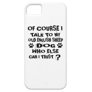 CAPA PARA iPhone 5 NATURALMENTE EU FALO A MEU CÃO INGLÊS VELHO DE DO