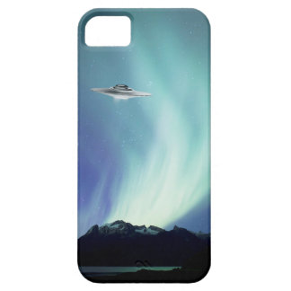 Capa Para iPhone 5 Nave espacial de UPO com aurora boreal