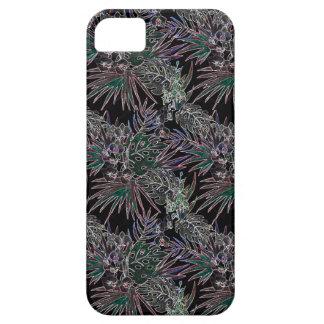 Capa Para iPhone 5 NÉON tropical do teste padrão de flor