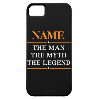 Capa Para iPhone 5 Nome personalizado o homem o mito a legenda