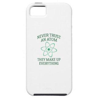 Capa Para iPhone 5 Nunca confie um átomo