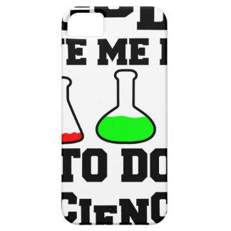 Capa Para iPhone 5 O deus deu-me a vida para fazer a ciência