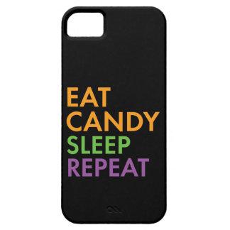 Capa Para iPhone 5 O Dia das Bruxas - coma doces, dormem, repetem -