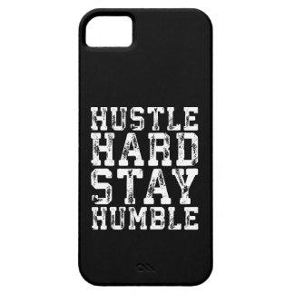 Capa Para iPhone 5 O duro da convicção, permanece humilde - palavras