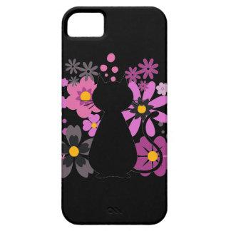 Capa Para iPhone 5 O gato no rosa floresce a caixa de IPhone 5/5S mal