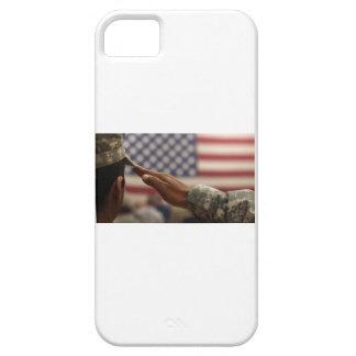 Capa Para iPhone 5 O soldado sauda a bandeira dos Estados Unidos