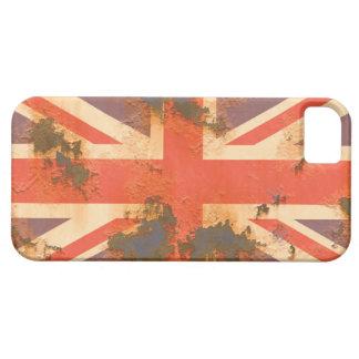 Capa Para iPhone 5 O vintage oxidou bandeira de Reino Unido