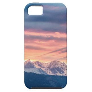 Capa Para iPhone 5 Ondas do por do sol da montanha rochosa de