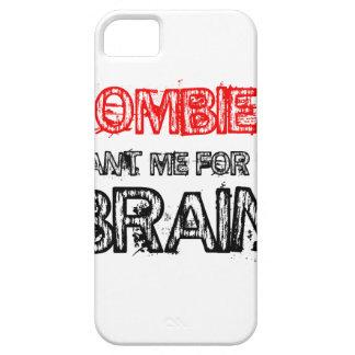 Capa Para iPhone 5 os zombis querem-me para meu cérebro