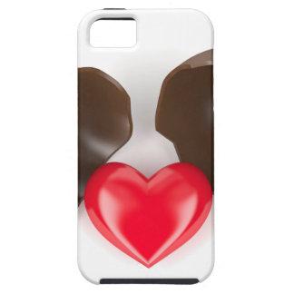 Capa Para iPhone 5 Ovo e coração de chocolate