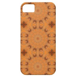 Capa Para iPhone 5 Oxidação-Mandala, cores de Rust_843_2