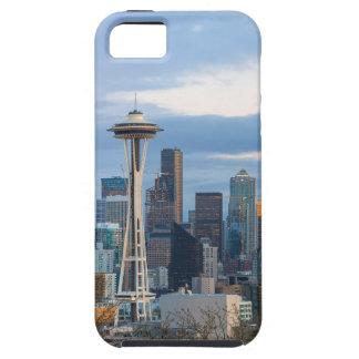 Capa Para iPhone 5 Panorama da noite da skyline da cidade de Seattle