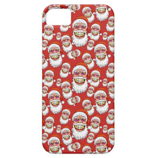 Capa Para iPhone 5 Papai Noel com sorriso do Feliz Natal