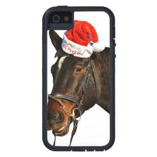 Capa Para iPhone 5 Papai noel do cavalo - cavalo do Natal - Feliz