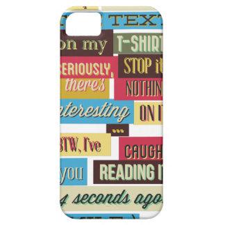 Capa Para iPhone 5 pare de ler os textos, design fresco legal
