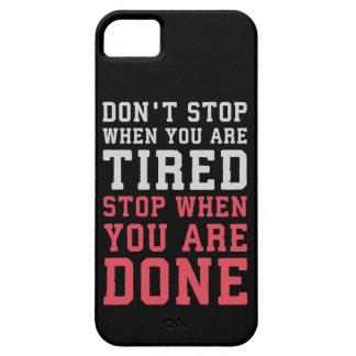 Capa Para iPhone 5 Pare quando você é feito - Gym inspirado