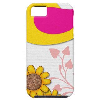 Capa Para iPhone 5 pássaro floral, arte, design, bonito, novo, forma