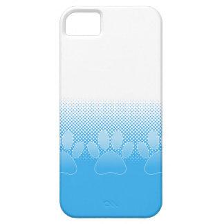 Capa Para iPhone 5 Patas azuis e brancas com fundo do papel de jornal