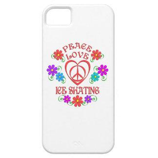 Capa Para iPhone 5 Patinagem no gelo do amor da paz